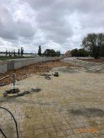 Ход строительства набережной солёного озера