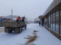 В Саках выпал снег