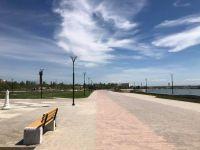 Строительство набережной в Саках завершено