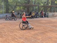 Мастер-класс по большому теннису на колясках