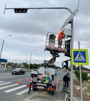 Дополнительные светофоры на Евпаторийском шоссе, 20 августа 2021