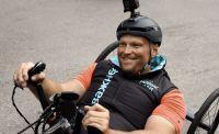 Инвалид приехал в Крым на хендбайке