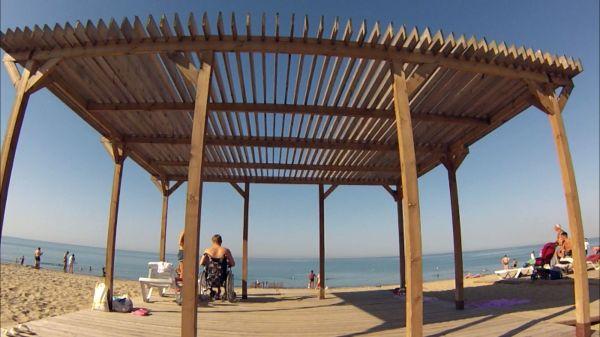 Пляж для инвалидов, сентябрь